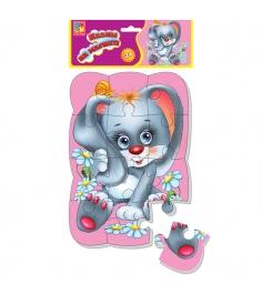 Пазлы для малышей Vladi Toys магнитные зайка артик...