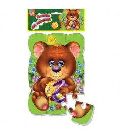 Пазлы для малышей Vladi Toys магнитные медвежонок ...