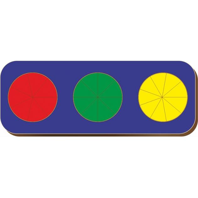 Рамка-вкладыш Woodland Дроби 3 круга уровень 2 61103