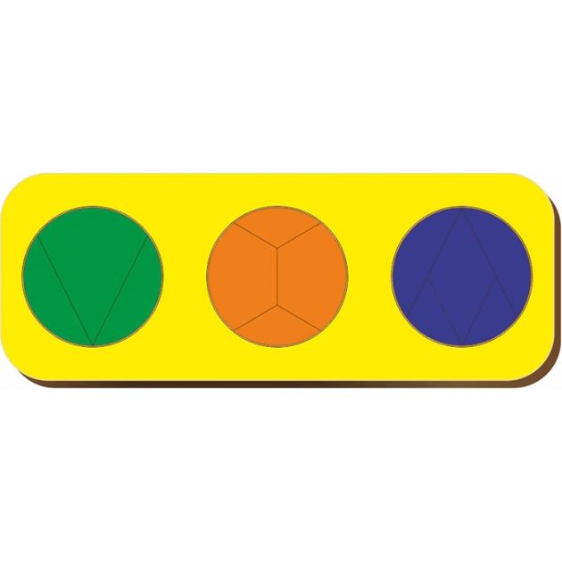 Рамка-вкладыш Woodland Дроби 3 круга уровень 3 61105