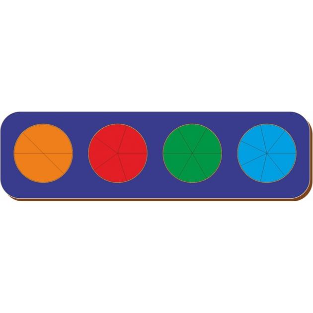 Рамка-вкладыш Woodland Дроби 4 круга, уровень 2 61402