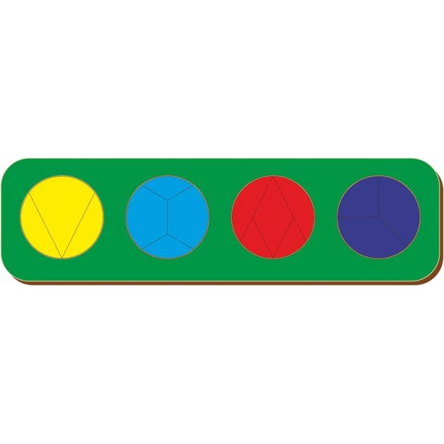Рамка-вкладыш Woodland Дроби 4 круга, уровень 4 61404