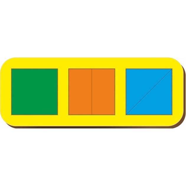 Рамка-вкладыш Woodland Сложи квадрат 3 квадрата, уровень 1 64101