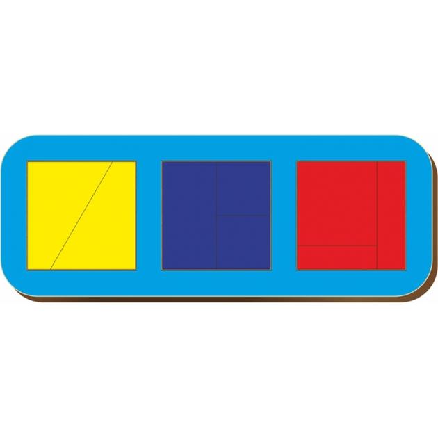 Рамка-вкладыш Woodland Сложи квадрат 3 квадрата, уровень 1 64102