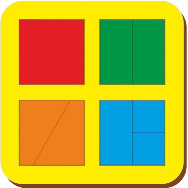 Рамка-вкладыш Woodland Сложи квадрат 4 квадрата,уровень 1 64201