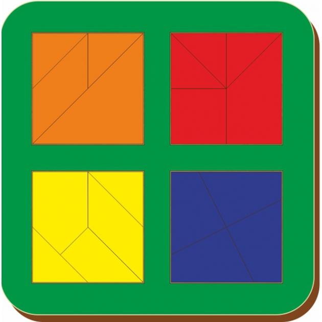 Рамка-вкладыш Woodland Сложи квадрат 4 квадрата, уровень 3 64206