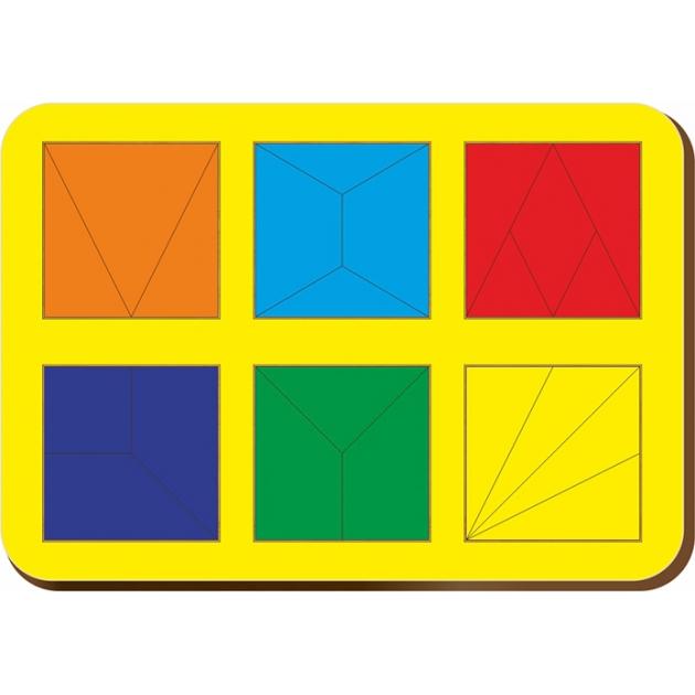 Рамка-вкладыш Woodland Сложи квадрат 6 квадратов, уровень 2 64302