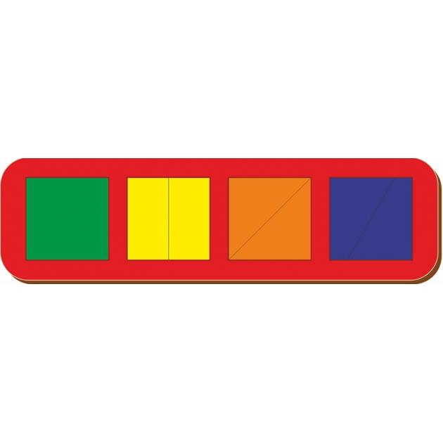 Рамка-вкладыш Woodland Сложи квадрат 4 квадрата, уровень 1 64501