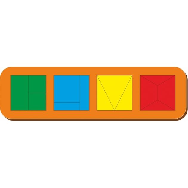 Рамка-вкладыш Woodland Сложи квадрат 4 квадрата, уровень 1 64502
