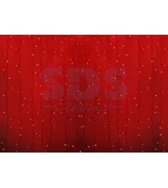 Новогодняя гирлянда дождь Led Neon Night, 2х1,5м, провод silicon, цвет красный 2...