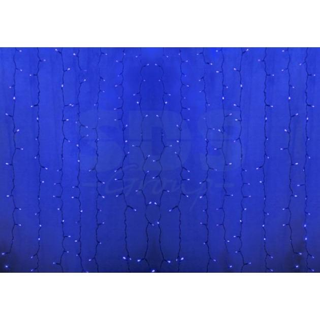 Новогодняя гирлянда дождь Led Neon Night, 2х1,5м, провод silicon, цвет синий 235-303