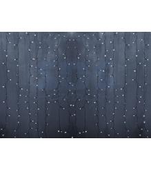 Новогодняя гирлянда дождь Led Neon Night, 2х1,5м, провод silicon, цвет белый 235-305