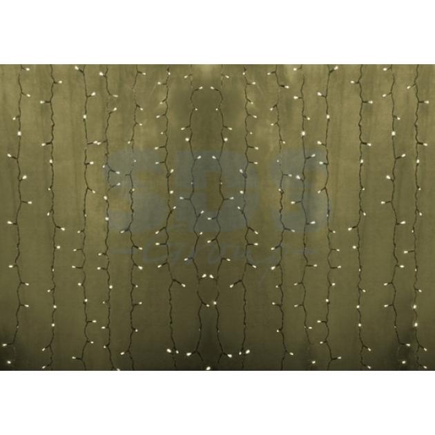Новогодняя гирлянда дождь Led Neon Night, 2х1,5м, провод silicon, цвет теплый белый 235-306