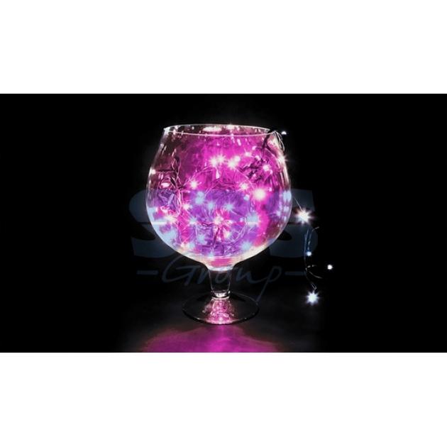 Новогодняя гирлянда Neon-night Твинкл Лайт розовая 10 м 100 диодов 303-152