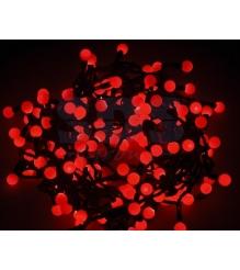 Новогодняя гирлянда Neon-night Мультишарики, красная, 20 м 303-502