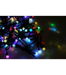 Новогодняя гирлянда Neon-night LED - шарики, МУЛЬТИ, 10 метров 303-509-2...