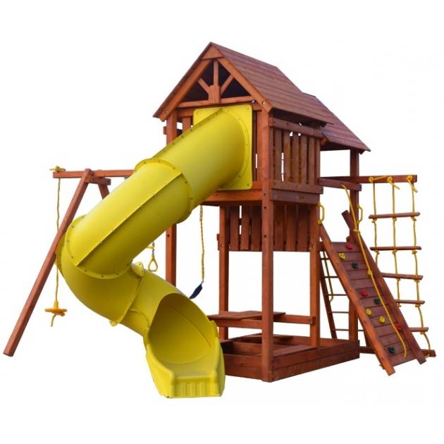 Детская площадка PlayGarden skyfort tube с горкой трубой