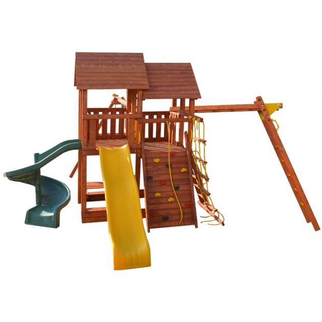 Детская площадка PlayGarden skyfort2 стандарт со спиральной горкой и рукоходом
