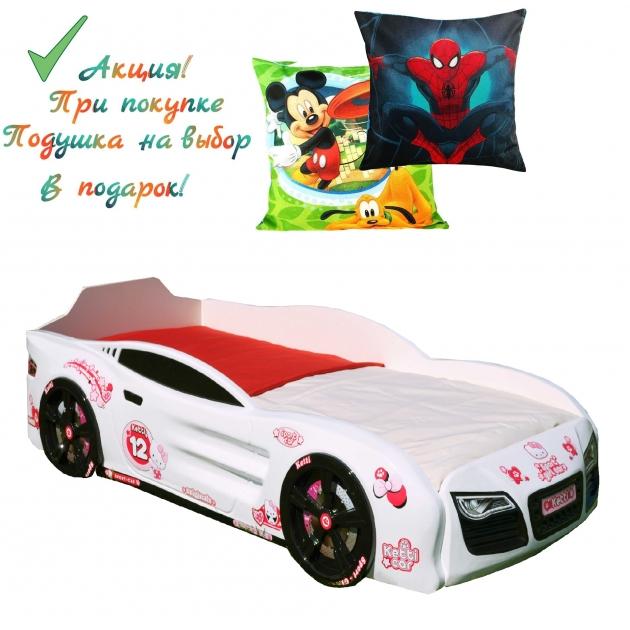 Кровать машина для девочки 3D Romack Mebel