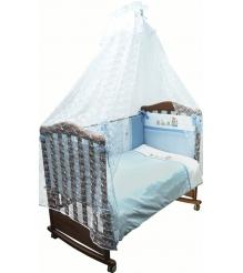 Комплект в кроватку 3 предмета Сонный гномик Паровозик 372...