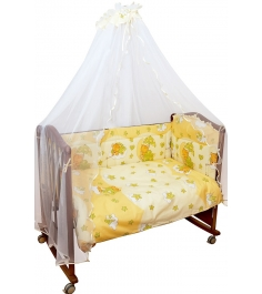 Комплект в кроватку 6 предметов Сонный гномик Мишк...