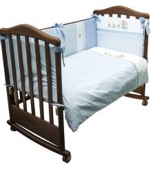 Комплект в кроватку 6 предметов Сонный гномик Паровозик 672...