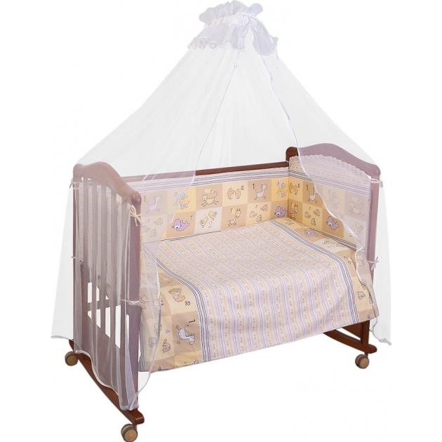 Комплект в кроватку 7 предметов Сонный гномик Считалочка 705