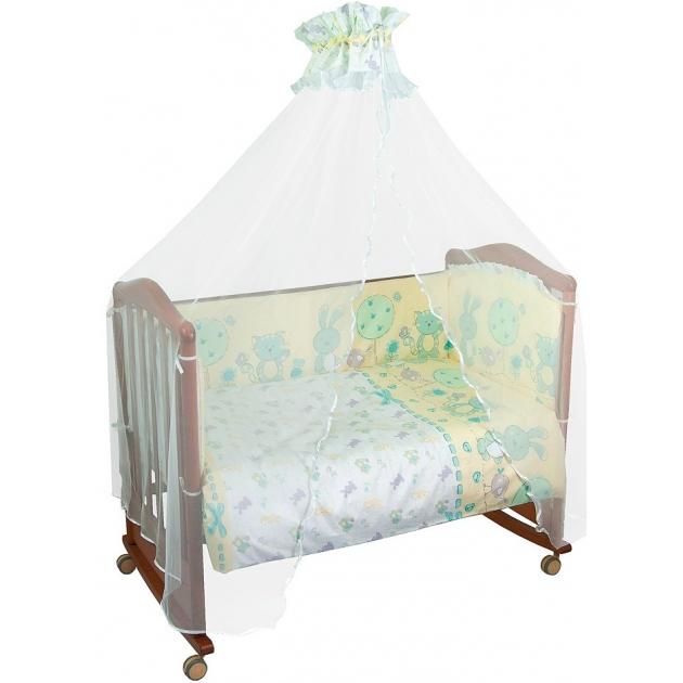 Комплект в кроватку 7 предметов Сонный гномик Акварель 706