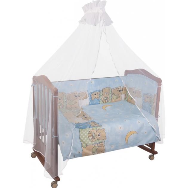 Комплект в кроватку 7 предметов Сонный гномик Лежебоки 715