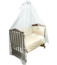 Комплект в кроватку 7 предметов Сонный гномик Кантри 717...