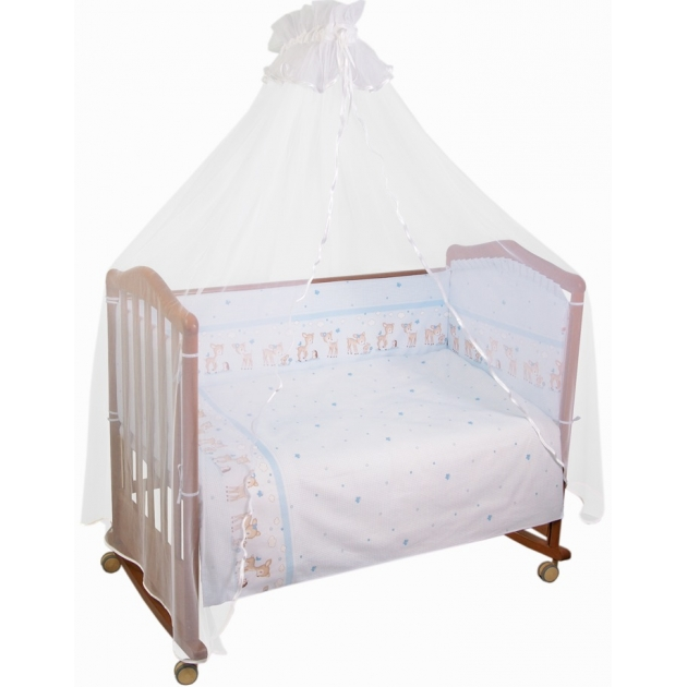 Комплект в кроватку 7 предметов Сонный гномик Оленята 727