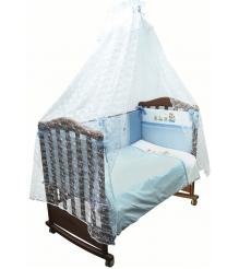 Комплект в кроватку 7 предметов Сонный гномик Паровозик 772...