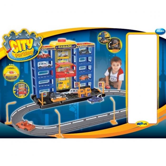 Парковка Dave Toy с 6 машинками 32007