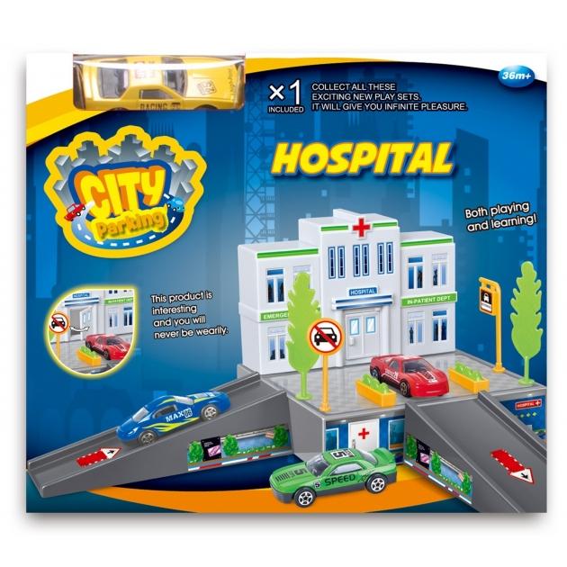 Больница Dave Toy с 1 машинкой 32016
