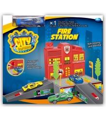 Пожарная станция Dave Toy с 1 машинкой 32018