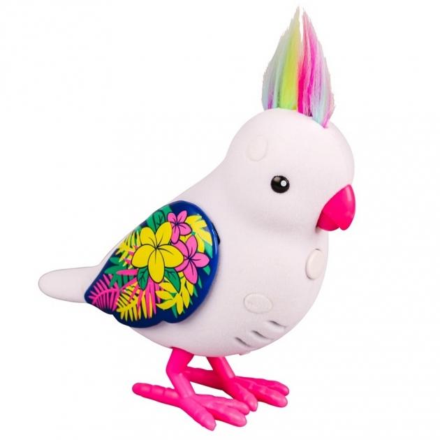 Интерактивная птичка Little Live Pets Белая с блестящими крыльями 28235