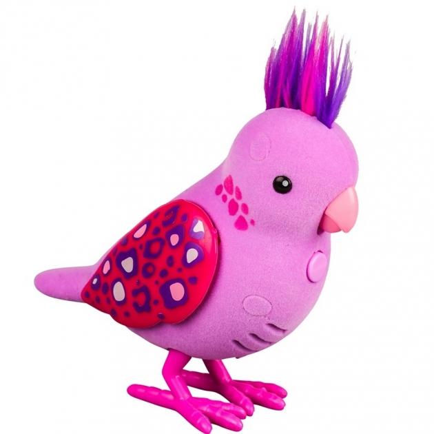 Интерактивная птичка Little Live Pets Розовая с драгоценными камушками на крыльях 28236