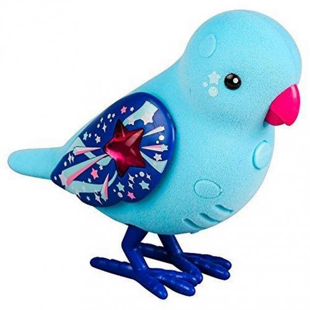 Интерактивная птичка Little Live Pets Голубая с красным клювом 28239
