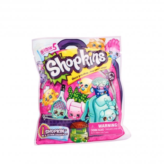 Фольгированный пакетик Shopkins с 1 героем Пятая серия 56290