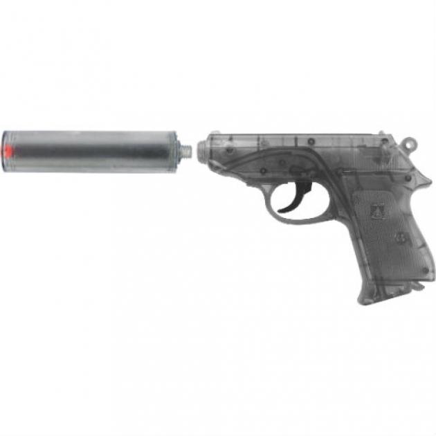 Пистолет с пистонами Sohni-wicke с глушителем Специальный Агент PPK 25 зарядный 0472-07F