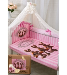 Комплект для кроватки Золотой Гусь 7 предметов Sweet Rabbit 1712...