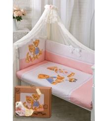 Комплект в кроватку Золотой гусь 7 предметов Sweety Bear 1752...