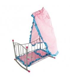 Кровать Mary Poppins качалка с балдахином Зайка 47х325х65см 67314