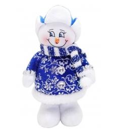 Кукла снеговик 20 см син Новогодняя сказка 972419