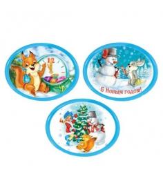 Сувенирный магнит марка с новым годом 7х55 см в ассорт Новогодняя сказка 972451