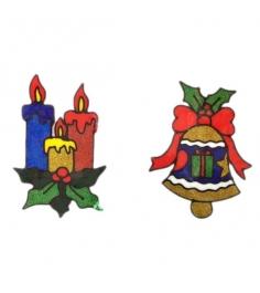 Наклейка гелевая новогоднее украшение в ассорт Новогодняя сказка 973101