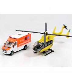 Игровой набор Siku металлических машин Фургон и вертолет 1:87 1850...