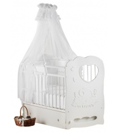 Кроватка с маятником для новорожденных